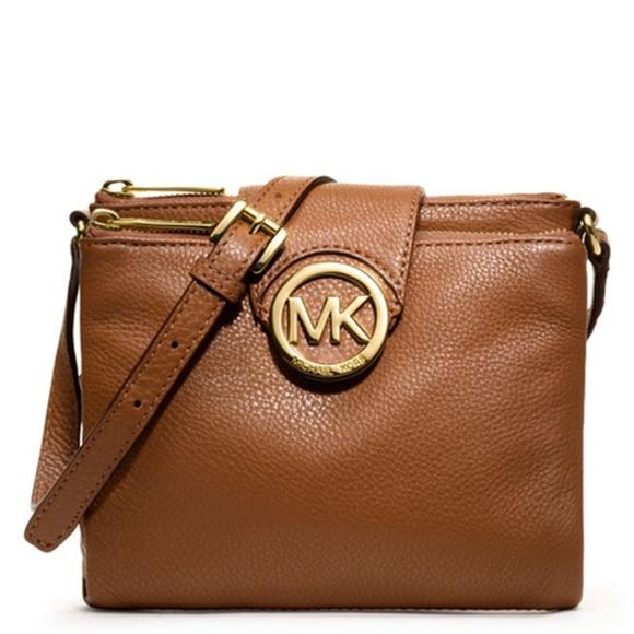 0222665373af KORS Michael Kors Handbags - Michael Kors Fulton Crossbody Bag in Tan